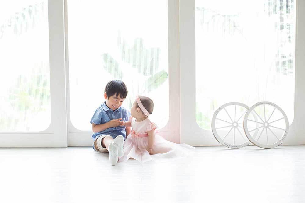 神戸フォトスタジオのお宮参り・ベイビー写真